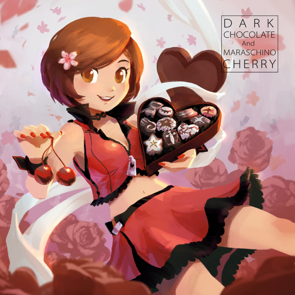 Dark Chocolate and Maraschino Cherry